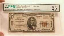1929 $5 PMG VF25 FR 1800-2 Honolulu Bishop First NB CH 5550 Hawaii National Note