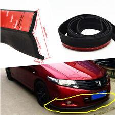 Car Front Bumper Lip Splitter Body Spoiler Protection Decorate Strip 8.2ft Black