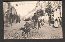unmailed post card Belgium Kortrijk - Rijsselstraat /people/ dogs pulling cart