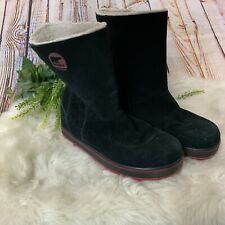 Sorel Black Glacey Waterproof Insulated Snow Boots Womens Size 8 1975-010