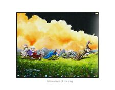 Sheep Incognito Wall Art Signed Print Paper Fellowsheep Of The Ring Signed