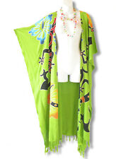 CD222 Plus Size Maxi Cardigan Kaftan Duster Jacket Wrap Dress - 2X, 3X, 4X & 5X