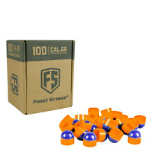 First Strike Paintball Rounds - Blue / Orange Shell - Orange Fill - 100 Count