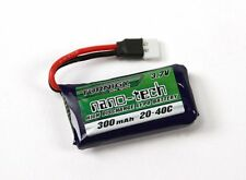2x Turnigy nanotech 300mAh 1S 3.7v 20-40C Lipo Battery Pack Mini Losi Compatible