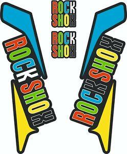 ROCK SHOX FORK Stickers Decals Mountain Bike Down Hill MTB #b073