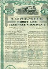 Rare Sept, 1945 Yosemite Short Line Railway Co, Yosemite Valley Bond