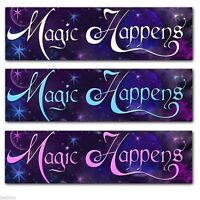 Magic Happens Bumper Sticker Mystical Wicca Pagan New Age Priestess Goddess Gift