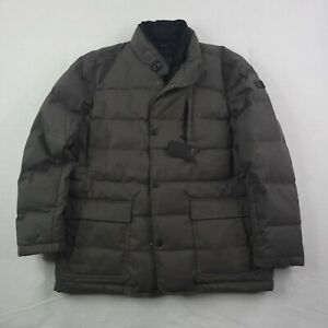 New Tumi Jacket Adult XL Men Gray Zip Coat Puffer Down Filled Travel Lined