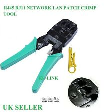 RJ45 RJ11 NETWORK CABLE LAN PATCH CRIMP CRIMPING TOOL FREE POSTAGE