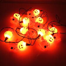 Halloween Jack O Lantern Pumpkin Man 10 Light String Indoor Outdoor