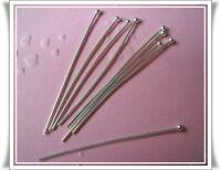 50-100 Nietstifte m. Kugel Prismenstifte  silber 0,7 mm x 40mm x 1,8 mm
