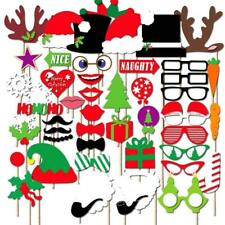 50pcs Christmas Photo Booth Props Mustache On A Stick Party Photography Wedding