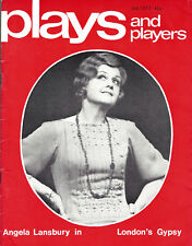 "Angela Lansbury ""GYPSY"" Stephen Sondheim '73 London ""Plays and Players"" Magazine"