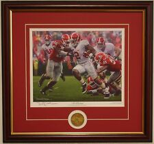 ALABAMA football Derrick Henry The Washout framed print & coin by Daniel Moore