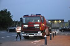 PHOTO  BASINGSTOKE FIRE WATER TANKER AT RAILWAY STATION 2013 TO FILL LMS LOCO NO