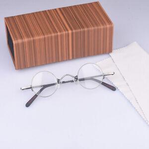 Retro Round Metal Eyeglasses Vintage mens Round silver Frame rx glasses