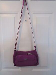 Baggallini Crossbody Bag Purple Nylon Travel Purse Organizer NWT
