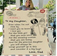 To My Daughter From Dad I Want You To Know I Love You Quilt, Fleece Blanket