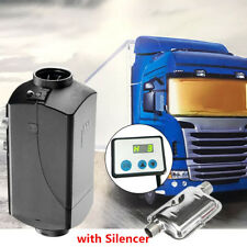 12V 5000W Hot Air Diesel Heater + Silencer 10L Tank Motorhome Truck Boat Tractor