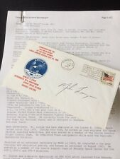 """Signed Apollo 11 Cover """"John Mike Lounge"""" With Official Biographical Data"""