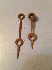 Pair Of Early Waterbury Mantle Clock Hands From Muller Case Clock