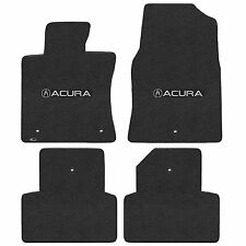 Tl 2009-2013 4Pc Car Floor Mats Carpet Black Ebony Velourtex Acura A Logo