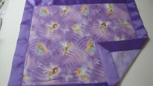 Fairies on Lavender Backing Lovey w/Purple Satin Binding