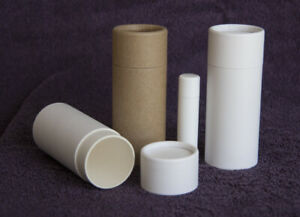 15 2.5 oz Deodorant Lotion Tubes Kraft Paper Eco Friendly Cardboard Containers