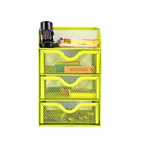 Pro Space Mesh Desk Organizer Office Supplies Storage Caddy with 3 Drawers,Green
