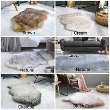 Freja Faux Fur Copenhagen Sheepskin Pink Brown Cream Natural Charcoal Rug 3 Size