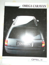 Opel Omega Caravan brochure Sep 1986 Swiss market French text