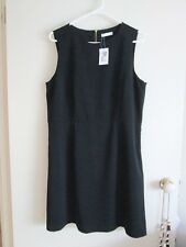 TARGET  size 14 - 16  Lovely Black Gold Outer Zip Knee Length Dress  W/TAGS