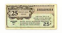 US MPC Series 461 25 cents P-M3 1946-47 f+