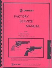 CROSMAN MODELS 45 & SA6 BB PELLET GUN SERVICE MANUAL HANDBOOK Revolver