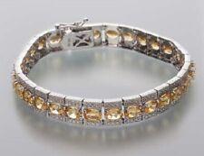 Ö.898 Designer-Armband 925er Silber rhodiniert Goldberyll