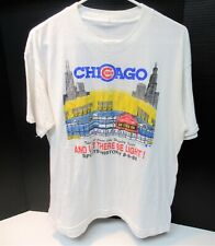 RARE VINTAGE CUBS 1ST NIGHT GAME AUGUST 8 1988 LG T-SHIRT VG COND SEE PICTURES