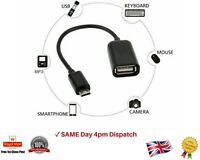 USB Micro Male to USB Female OTG Data Cable Adapter Host Converter Lead Android