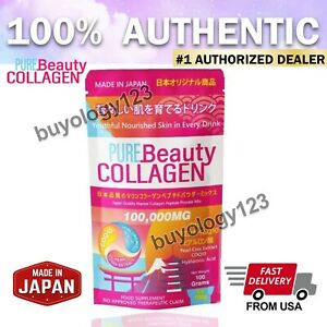 AUTHENTIC PURE BEAUTY COLLAGEN 100,000MG POWDER MIX JAPAN MADE HYALURONIC ACID