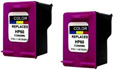 2pk Remanufactured HP #60 CC643WN Color Ink Cartridges