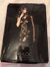 Ladies black Khloe Body Stocking By Ann Summers S