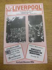 02/12/1980 Liverpool V BIRMINGHAM CITY FOOTBALL LEAGUE CUP [] (lieve piega). qualsiasi