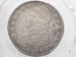 1818 50c PCGS AU50 - Bust Half Dollar Overton 107 # 7893