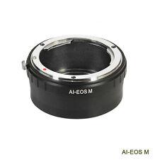 Bague d'adaptation manuelle lens ring objectif Nikon AI vers boitier Canon EOS M