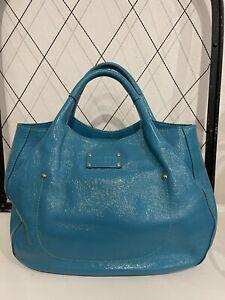 Kate Spade New York turquoise/teal-patent leather handbag