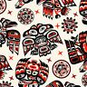 Fabric Native American Tribal Symbols Red Black Elizabeth Cotton 1/4 yard 550