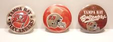 """Tampa Bay Buccaneers NFL Button Pins  Set 3 Round 1-1/4"""" Free Shipping"""