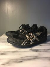 Asics Mens Track / Cross Country Spikes Size 9 Black GY606 Shoes