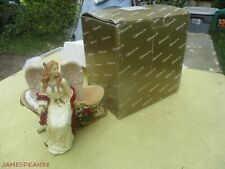 Roman Inc 71842 Angel & Sleigh Centerpiece Fig In Box 8""