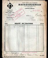 """TOURS (37) USINE de CLERMONT-FERRAND / PNEUS & CAOUTCHOUC """"BERGOUGNAN"""" en 1952"""