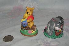 Disney Grolier Winnnie the Pooh Ceramic Porcelain Figure Statue Bonus Eeyore